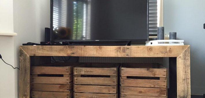 Tv meubel van pallet hout